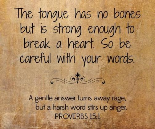 Be careful with your tongue