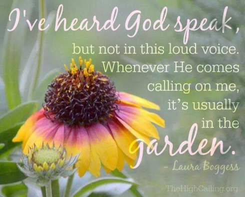 God speaks in the garden